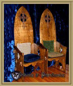 medieval wedding decorations, reception hall, medieval thrones