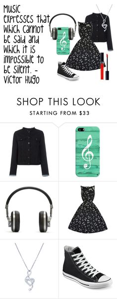 """""""Music: What Cannot Be Silent"""" by mford21 ❤ liked on Polyvore featuring rag & bone/JEAN, Casetify, Master & Dynamic, BERRICLE, Converse and Christian Dior"""