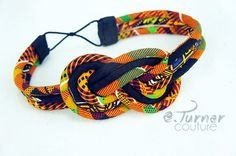 Kente Headband Kente Cloth African Headband by ETurnerCouture