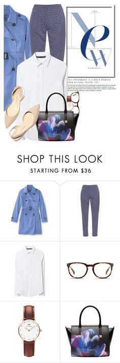 """Spring Chic"" by glamorous09 ❤ liked on Polyvore featuring L.L.Bean, Diane Von Furstenberg, Zara, Linda Farrow, Daniel Wellington, Ted Baker, Paul Andrew, jcrew and spring2016"