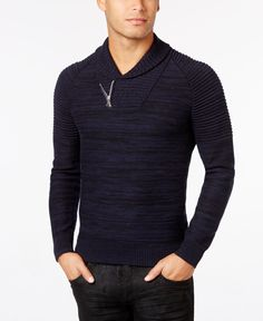 1e652a9a2a84b INC International Concepts Men s Nickelby Marled Shawl-Collar Sweater