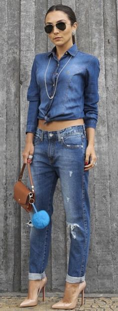 # STREET FASHION IN BLUE JEANS BY Lalá Noleto