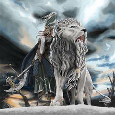 White Lion by Thomgirl on DeviantArt Fantasy Heroes, Fantasy World, Fantasy Art, Tolkien, Elf Characters, Dark Eldar, High Elf, Battle Axe, Character Concept