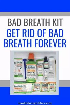 The ultimate bad breath kit. Get rid of bad breath forever. Bad breath cures. Bad breath remedies. Complete kit that gets rid of every aspect of bad breath. Bad breath rinse. Therabreath fresh breath starter kit review by a dental hygienist. #badbreath #toothbrushlife #badbreathcures #therabreath #dental #oralhealth