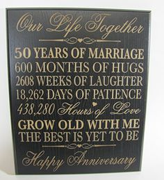 Wedding Anniversary Wall Plaque Gifts for Couple Anniversary Gifts for Wedding Anniversary Gifts for Him 12 W X 15 H Wall Plaque By Dayspring Milestones Black ** You can find more details by visiting the image link. 1st Wedding Anniversary Gift For Him, Golden Anniversary Gifts, Happy Anniversary, 1st Anniversary Ideas For Husband, Silver Anniversary, Anniversary Quotes, Anniversary Parties, Anniversary Cards, Couple Gifts
