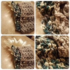 Silver and blue gray scarfs