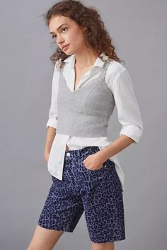 New Clothing for Women | Anthropologie Cute Shorts, 50 Fashion, New Outfits, Bermuda Shorts, Anthropologie, Short Dresses, Comfy, Denim, Blue