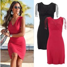 Sexy Womens Summer Bandage Bodycon Evening Party Cocktail Beach Short Mini Dress…
