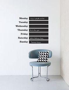 http://www.notonthehighstreet.com/rosegreyinteriors/product/this-week-wallsticker  £62