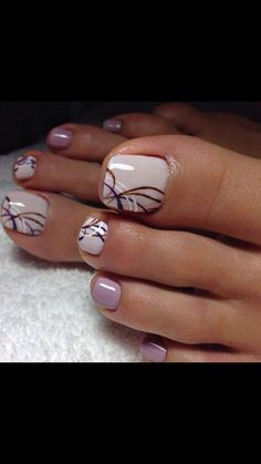 Acrylic Nail Art For More Beautiful Nails Pretty Toe Nails, Cute Toe Nails, Fancy Nails, My Nails, Pretty Toes, Pretty Pedicures, Toe Nail Color, Toe Nail Art, Nail Colors