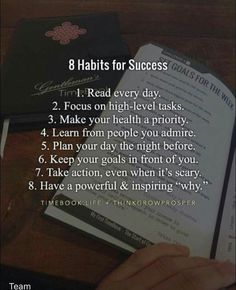 8 Habits for Success motivation How to Improve Yourself Infographic - e-Learning Infographics Vie Motivation, Study Motivation Quotes, Study Quotes, Student Motivation, College Motivation, Entrepreneur Motivation, Motivation Success, Business Motivation, Entrepreneur Quotes