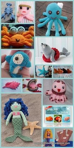 links to 15 of the best free under the sea crochet and amigurumi patterns available