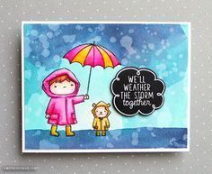 Zig Clean Color Real Brush Markers & Mama Elephant Chance of Rain