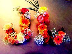 DIY lettres fleuries #wedding #DIY