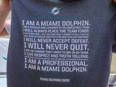 Miami Dolphins practice report  Credo on T-shirts indicates players accept  accountability Miami Dolphins 120bf5d42