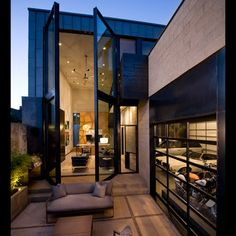 Denver Modern Home Tour- love the huge window doors!