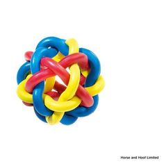 Classic Interlock Rubber Toy Crazy and mixed up too These balls are made of multi-coloured interlocking loops of rubber and are great for throw and fetch games Tough Dog Toys, Color Ring, 8 Weeks, Classic, Balls, 3d, Play, Rings, Derby