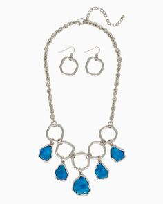 charming charlie | Marble Nuggets Necklace Set | UPC: 410006969650 #charmingcharlie