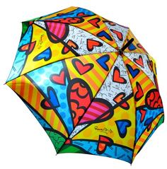 Another Romero Britto piece that I want. It's a freaking umbrella with his art!
