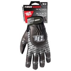 BIG Time Products LLC Extreme Work Gloves, Touchscreen Compatible, Black & Gray, XL, As Shown