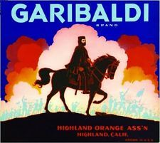 Garibaldi Brand, Highland Orange Association, Highland, San Bernardino, California
