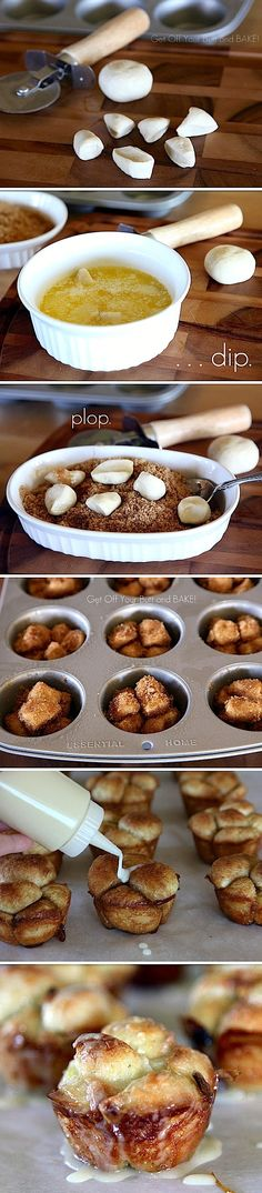 Sweet Monkey Rolls ~ Yummy! Duh!  Why didn't I think of this?!