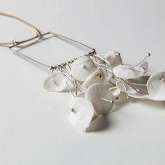 NECKLACE Australia - Silver and Porcelain | 12 x 7 cm - by Marta Armada