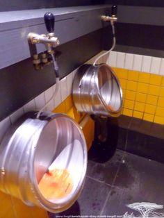 Beer Keg Urinals!
