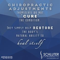 No pills or drugs can come close to what the human body is capable of doing for itself! #getadjusted #chiropractic http://www.DrSchluter.com