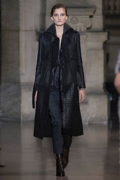 Yiqing Yin | Spring 2016 Couture | 27 Black coat, top and trousers