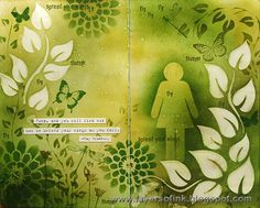 Layers of ink: Fly Art Journal Page http://layersofink.blogspot.com/2014/03/fly-art-journal-page.html