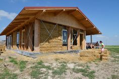 This strawbale home on the Pine Ridge Reservation in South Dakota, now completed, is the first prototype for a 100-unit sustainable housing ...