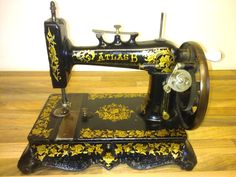 """""""ATLAS B"""" Sewing Machine (Serial No. 3698948) The Atlas model B sewing machine probably made by New Home Sewing Machine Company USA."""