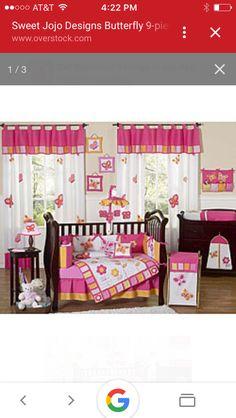 Modern Pink And Brown Polka Dot Baby Girl Crib Bedding Set Room Collection
