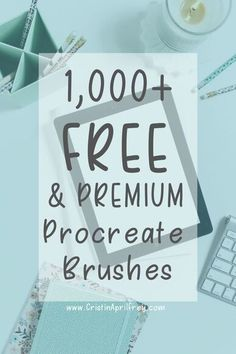 Premium and Free Procreate Brushes for the iPad Ipad Art, Brush Texture, Lettering For Beginners, Brush Vector, Texture Photoshop, Inkscape Tutorials, Watercolor Kit, Brush Lettering, Paint Brushes