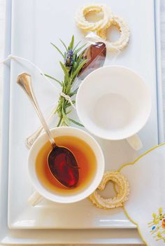 Infuse your tea with homemade lavender-honey spoons!