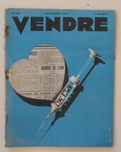 :: Vendre, n°168, novembre 1937  Paris, Couverture Azaria Benaroya ::