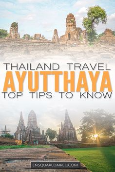 12 Top Tips & Things You Need To Know Before You Visit Ayutthaya Thailand  Click to read about the best way to visit this beautiful UNESCO heritage park, perhaps for your honeymoon. This beautiful place is ideal cultural travel and a must do for Asia travel. You will love the Ayutthaya temples, one of the most beautiful ones of the Thailand temples and is perfect for budget travel #enSquaredAired #travel #wanderlust #nomad #gapyear #travelblogger #lifestyleblogger #Ayutthaya #thailand