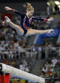 Olympic Gold Medal beam routine <3 :D  I SO happy she was able to get a gold.. FINALLY!