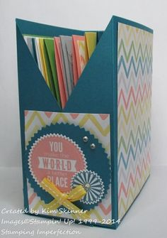 Create a card file box with this free tutorial and video!