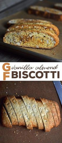 Vanilla almond flavored gluten free biscotti are twice-baked in the classic style.