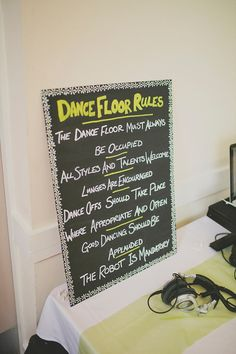 Dance Floor Rules