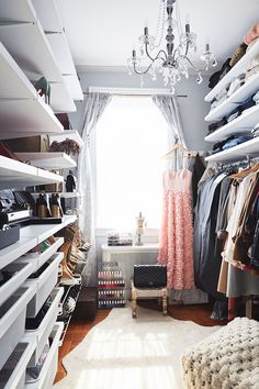 Organized closets that will make you *weak* in the knees.