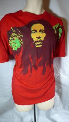 Mens Bob Marley & Wailers Graphic T Shirt Size XL XXL Red Reggae Rasta by AVELA $23