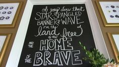 Chalkboard Art Fourth of July  Love it! by Morgan: Updated Entryway