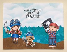 Yo Ho Ho stamp set from Neat and Tangled. Card by Mocha Frap Scrapper