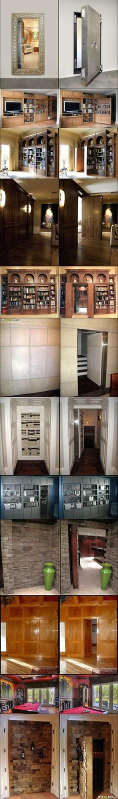 The secret room - wasn't sure where to pin this, but built-in storage was as good of a place as any!