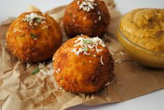 "Three Cheese ""Arancini Di Riso'."