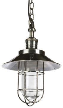 Maine Industrial Pendant Lamp - Matt Blatt $320