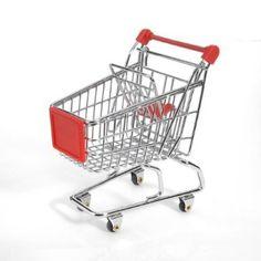 Amazon.com: Minya International Corp. Mini Shopping Cart - Red: Toys & Games